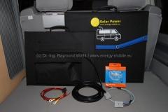 Solartaschen 120 Wp und 180 Wp mit Zubehör