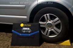 Geschlossene Solartasche 120Wp am Vorderrad