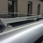 Solar system on VW T5 / T6 side view